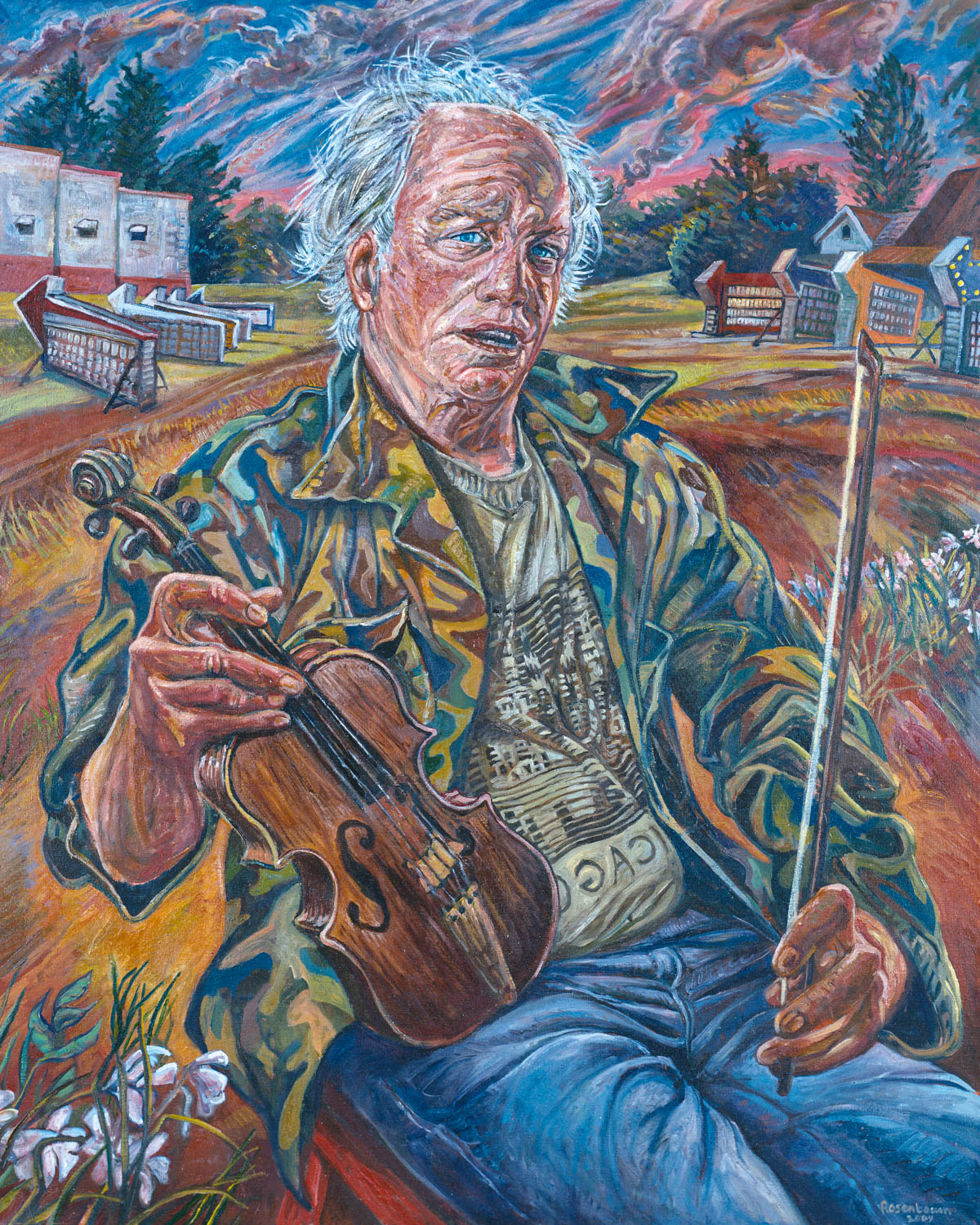 Self-portrait with Fiddle