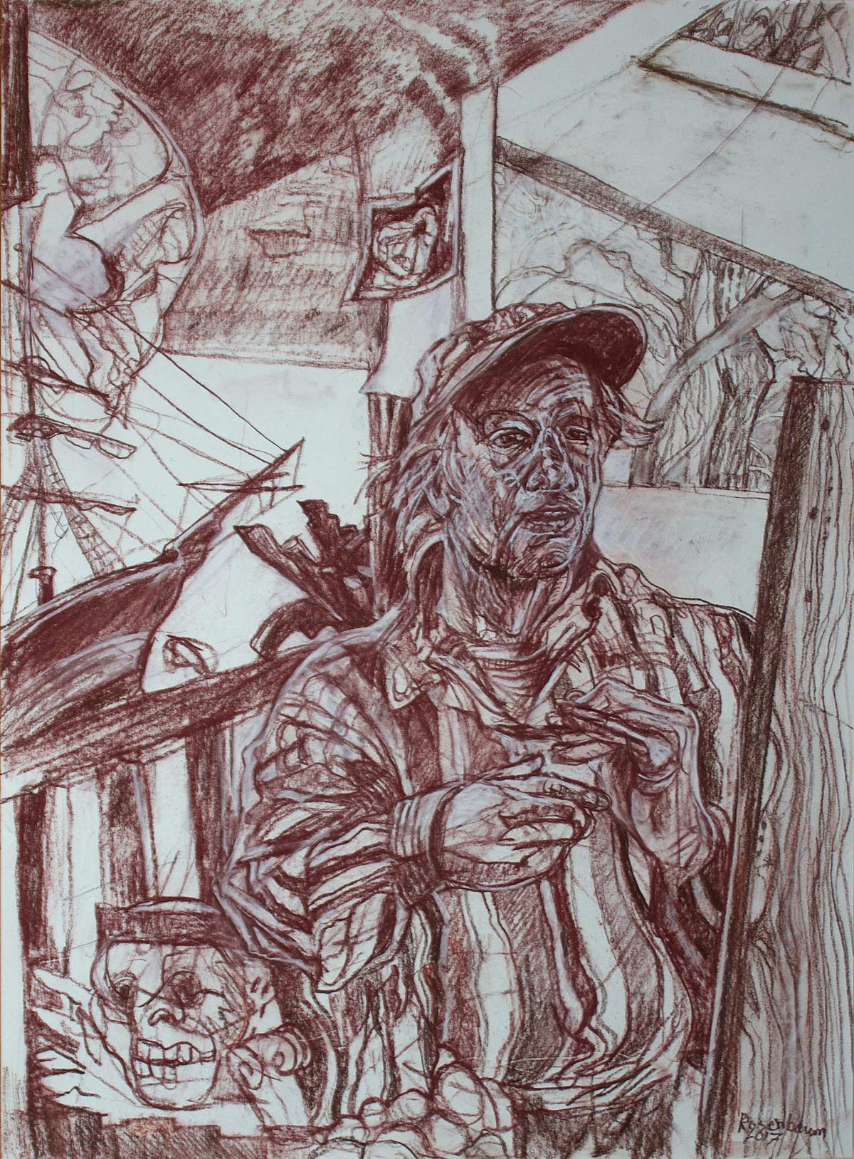 Self-portrait in Studio